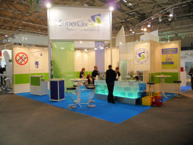 SuperClix Messestand