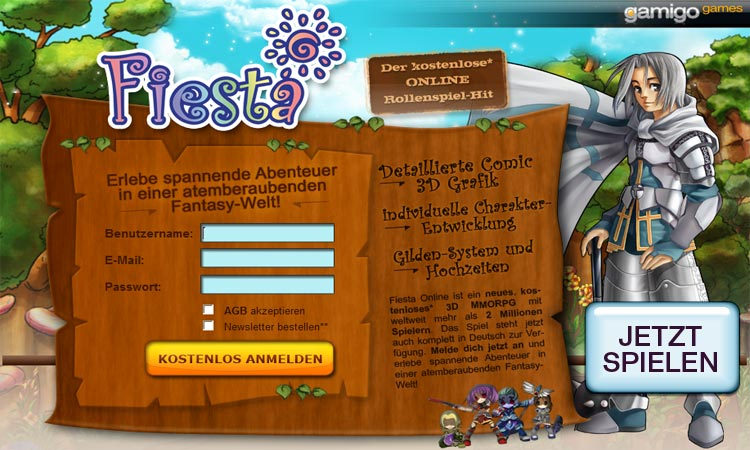 Fiesta Online Kostenloses Browsergame